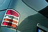 Volkswagen T5 Multivan 2003-2010 гг. Накладки на задние фонари (2 шт, нерж) 1 дверь, Carmos - Турецкая сталь