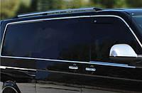 Volkswagen T5 Caravelle 2004-2010 гг. Полная окантовка стекол (14 шт, нерж) 1 боковая дверь, Короткая база
