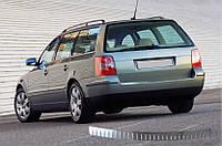 Volkswagen Passat B5 1997-2005 гг. Накладки на задний бампер SW (Omsa, нерж.) 2000-2006, Матовая полировка