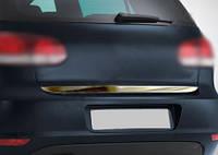 Volkswagen Polo 2001-2009 гг. Кромка багажника (нерж)