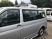 Volkswagen T5 Caravelle 2004-2010 гг. Рейлинги Хром Короткая база, Пластиковые ножки, фото 1
