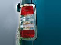 Volkswagen Caddy 2004-2010 гг. Накладки на стопы V1 (2 шт, нерж) OmsaLine - Итальянская нержавейка