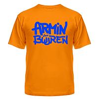 Футболка мужская, летняя, короткий рукав с надписями на заказ Armin Van Buuren
