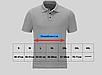 Футболка чоловіча потовыводящая колір сірий Mil-Tec Polo Urban Tactical Line® матеріал - COOLMAX ®, фото 7