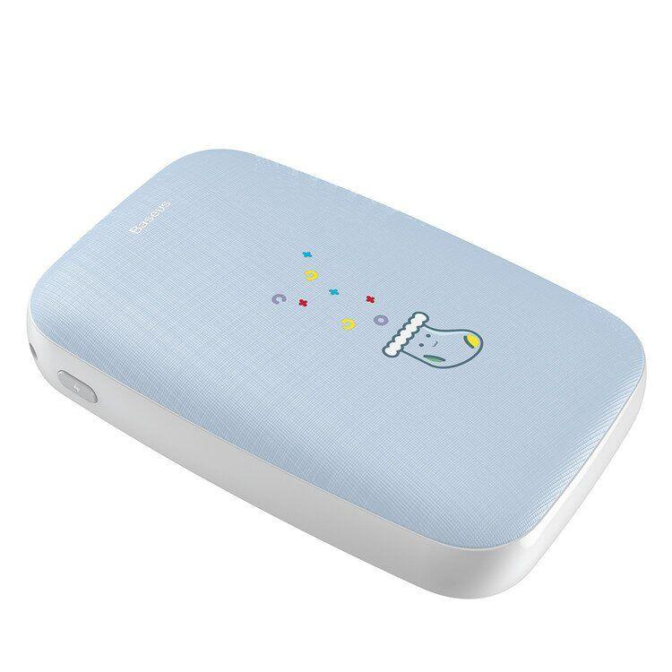 Повербанк BASEUS с подогревом рук Mini Q Hand Warmer 10000mAh |Type-C, 1USB, 2.1A| Blue