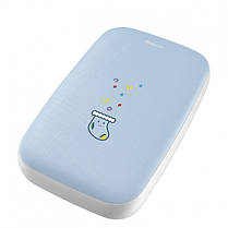 Повербанк BASEUS с подогревом рук Mini Q Hand Warmer 10000mAh |Type-C, 1USB, 2.1A| Blue, фото 2