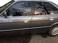 BMW 5 серия E-34 1988-1995 гг. Накладки на ручки (4 шт) Полированная нержавейка (передние ручки), фото 1