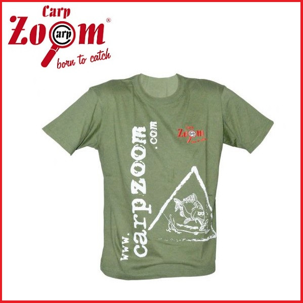 Брендовая футболка Carp Zoom Shirt зелёная