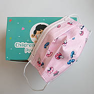 Одноразовые детские маски с рисунком, 50 шт в уп, фото 2