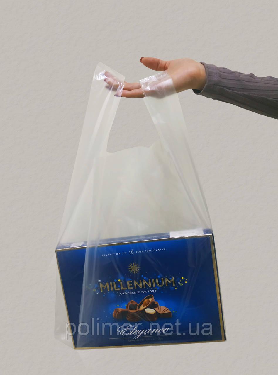 Поліетиленові пакеті майка прозора 20 мкм