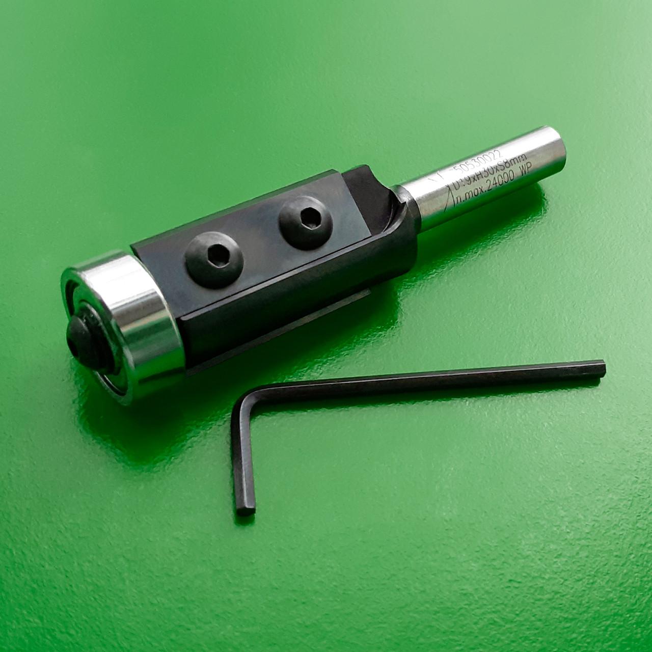 19х30х80х8 z=2 Фреза Stehle для ручного фрезера для обробки кромки зі змінними ножами і нижнім підшипником