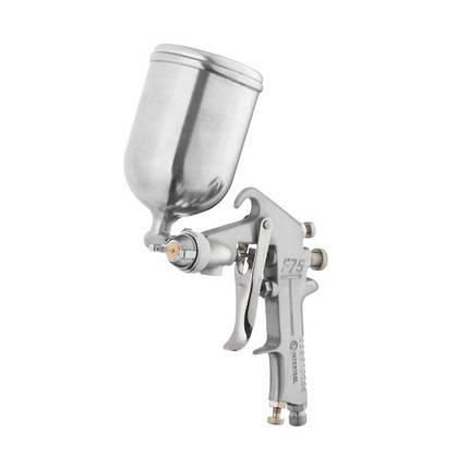 Краскопульт пневматический HP, форсунка 1.5мм, верхний металлический бачок 400мл., 5бар INTERTOOL PT-0202, фото 2