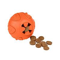 Іграшка для собак Bronzedog SMART мотиваційна М'яч 7 х 9 см помаранчевий, зелений