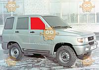 Стекло боковое УАЗ 3160 - 3162 Патриот переднее правое опускное (пр-во BENSON) ГС 83611 (предоплата 50%)