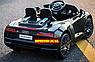 Дитячий електромобіль Ауді з шкіряним сидінням, Audi R8 Spyder чорний, фото 5