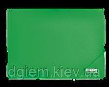 Папка на резинках А4 JOBMAX пластиковая зеленая