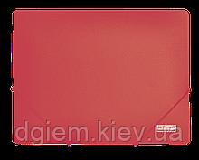 Папка на резинках А4 JOBMAX пластиковая красная