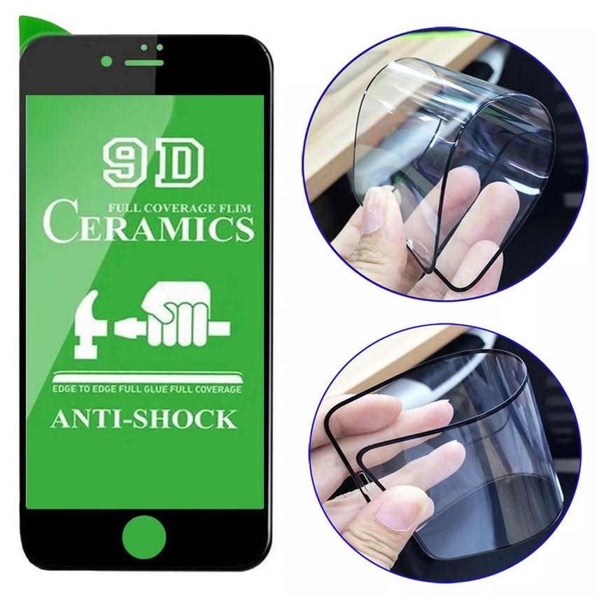 Захисне скло 9D Ceramics для iPhone 7, 8, SE 2020 чорне