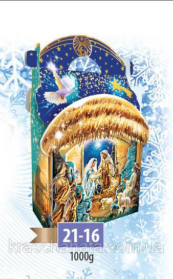 Новогодняя коробка, Сумочка новогодняя с ручкой, Рождество, 1000 гр, Картонная упаковка для конфет