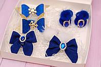 Новогодний набор украшений темно-синий