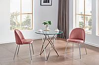 Стильный кофейный стол, стол на кухню, в гостиную круглый стеклянный