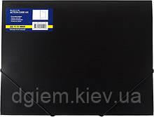 Папка на резинках А4 BUROMAX пластиковая черная