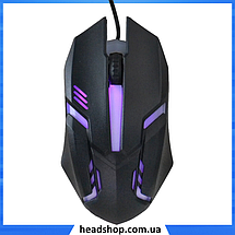 Клавиатура HK-6300 TZ + мышка - игровой комплект проводная клавиатура для ПК с цветной RGB подсветкой + мышь, фото 3