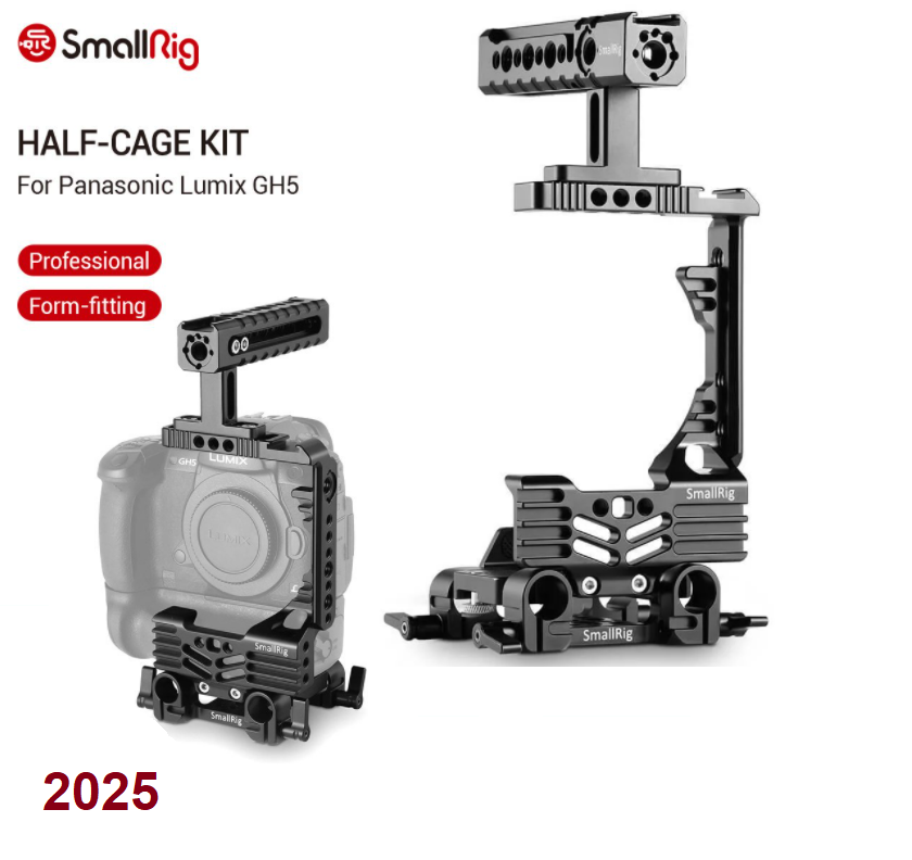 Акссесуар SmallRig Professional Half-cage Kit for Panasonic Lumix GH5 with Battery Grip (2025)