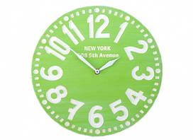 Настенные часы Нью-Йорк (яблочно-зелёные)