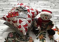 Набор декоративных новогодних подушек 2 шт + ПОДАРОК, подушка декоративная на Новый Год