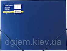 Папка на резинках А4 BUROMAX пластиковая синяя