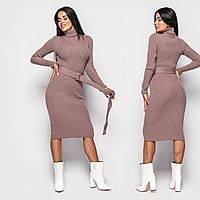 Женское теплое шерстяное платье