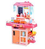 Детская игровая кухня 889-168 с водой и паром, 42 предмета, высота 63 см, фото 3