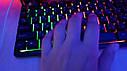 Ігрова механічна дротова клавіатура з підсвічуванням  KR-6300 (Репліка), фото 6