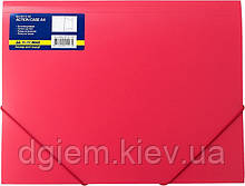 Папка на резинках А4 BUROMAX пластиковая красная