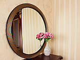 Зеркало в круглой раме черное с золотом /Диаметр 550мм/ /Круглое зеркало в ванную/ Код MD 1.1/1, фото 2