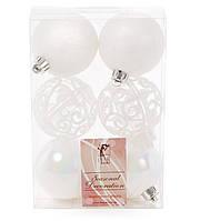 Елочные новогодние украшения шары 6см*6шт, фото 1