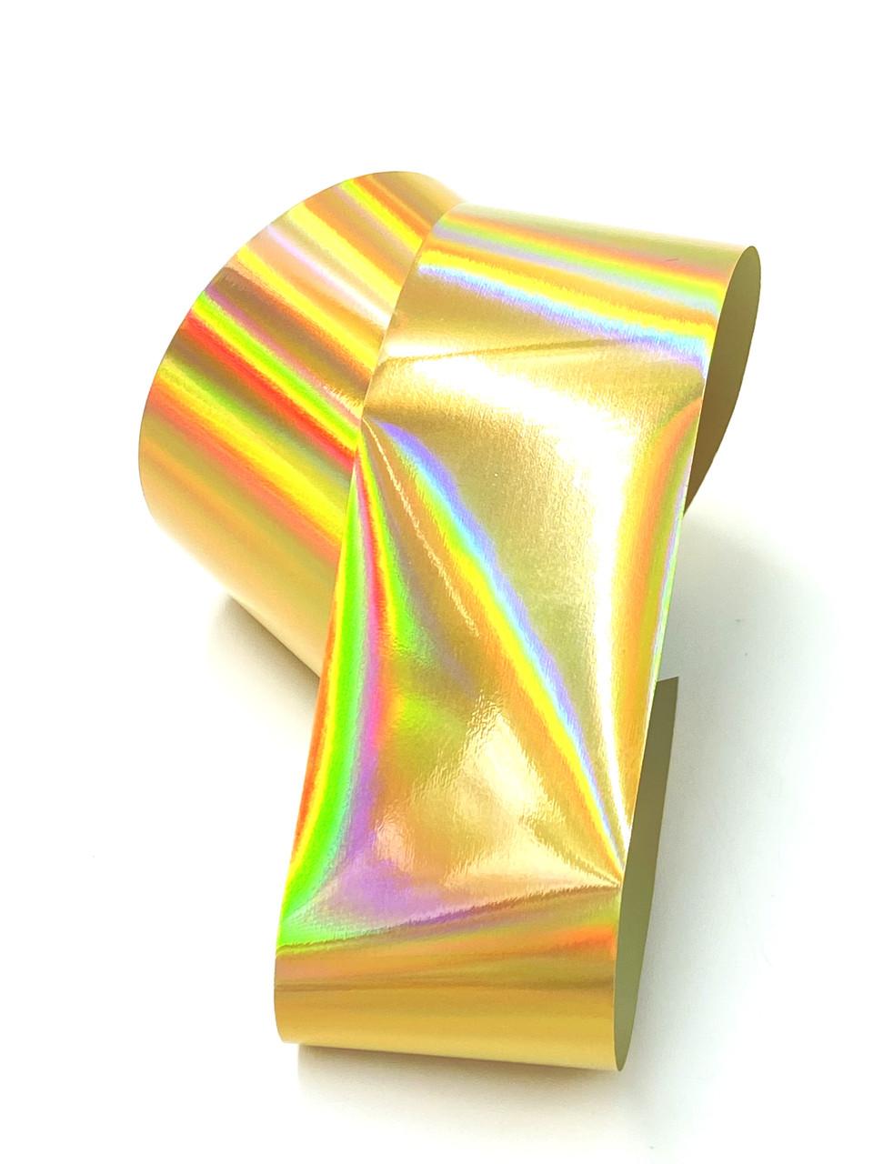 """Фольга для маникюра """"Призма"""", золото, 1 м"""