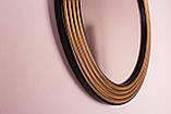 Зеркало в круглой раме черное с золотом /Диаметр 550мм/ /Круглое зеркало в ванную/ Код MD 1.1/1, фото 4