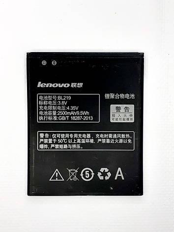 Аккумулятор Lenovo BL219 для A805e, A850+, A880, A889, A916, S856 оригинал б.у., фото 2