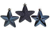 Новогодние елочные игрушки Звезды 7,5 см, набор 6 шт * 7,5 см, фото 1