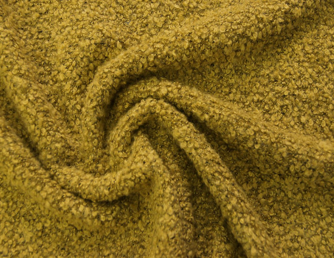 Трикотаж болгарский буклированый смесовый жёлтого цвета AN 4