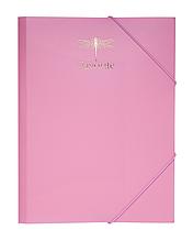 Папка на резинках А4 FAVOURITE, PASTEL пластиковая розовая