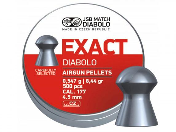 Пули пневм JSB Diablo Exact 4,52 мм 0,547 гр. (500 шт/уп), фото 2