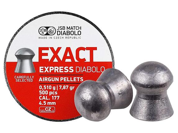 Кулі пневм JSB Diablo Exact Express 4,52 мм 0,510 гр. (500 шт/уп), фото 2