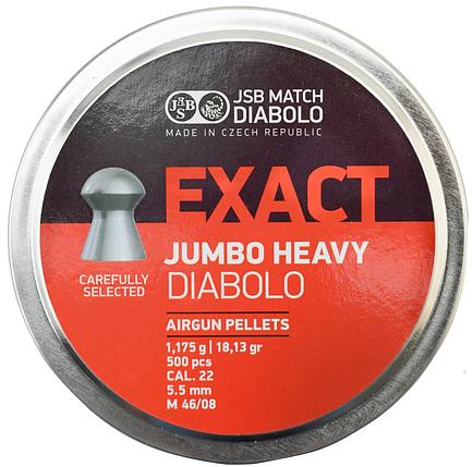 Кулі пневм JSB Jumbo Heavy, 5,52 мм , 1,175 г, 500 шт/уп, фото 2