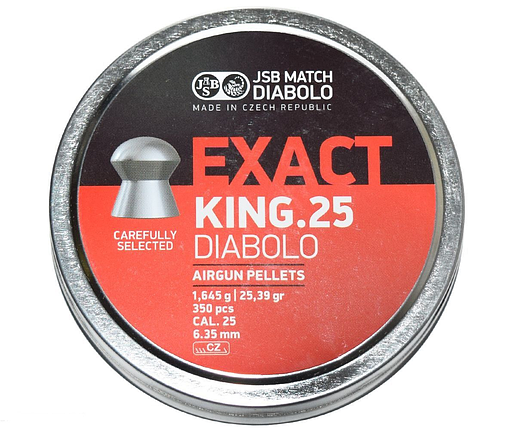 Пули пневм JSB Exact King 6,35 mm 1,645 гр. (350 шт/уп), фото 2