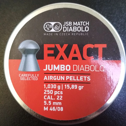 Пули пневм JSB Exact Jumbo, 5,5 мм , 1,03 г, 250 шт/уп, фото 2