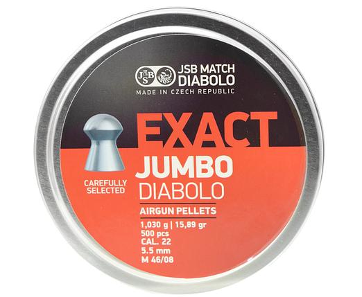 Пули пневм JSB Exact Jumbo, 5,5 мм , 1,03 г, 500 шт/уп, фото 2
