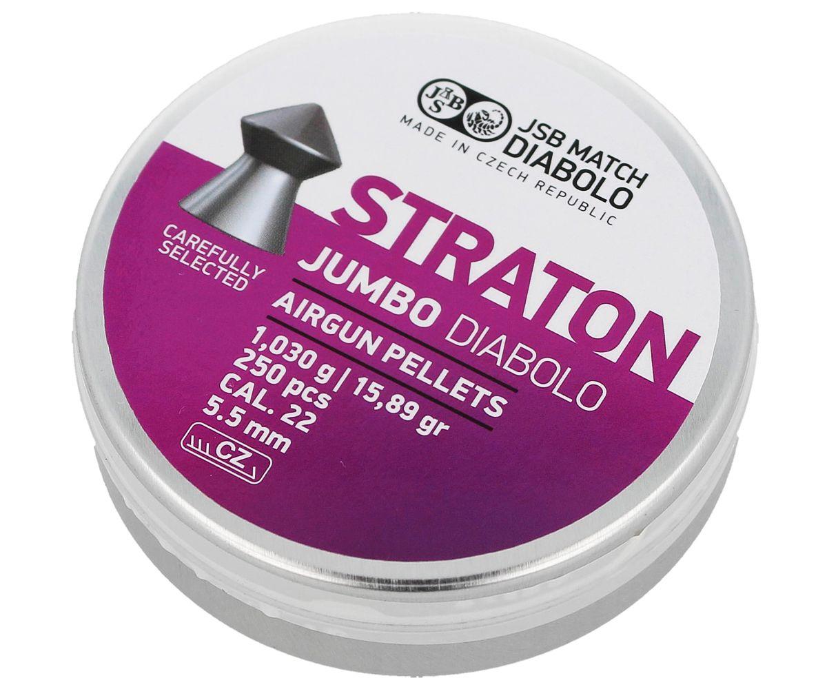 Кулі пневм JSB Jumbo Straton, 5,5 мм , 1,03 г, 250 шт/уп